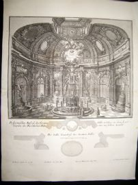 Paul Decker 1711 Folio Baroque Architectural Print. Interior 11